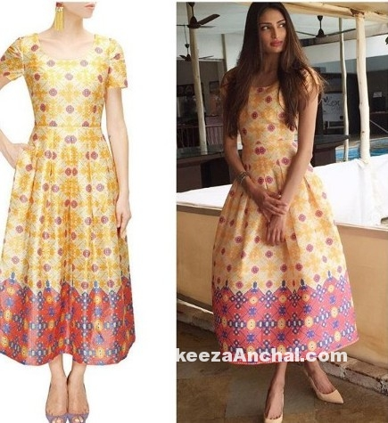 Sunil Shetty's daughter Athiya Shetty in Payal Pratap's Long Dress-PakeezaAnchal.com