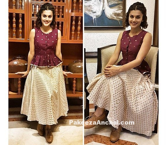 taapsee-pannu-in-ekta-and-sonal-skirt-style-pakeezaanchal-com
