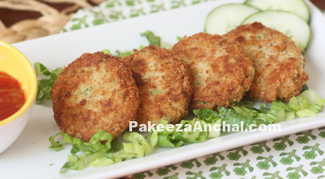 Tasty Potato Cutlets recipe, Aloo Cutlis Cutlets , Veg Recipe-PakeezaAnchal.com