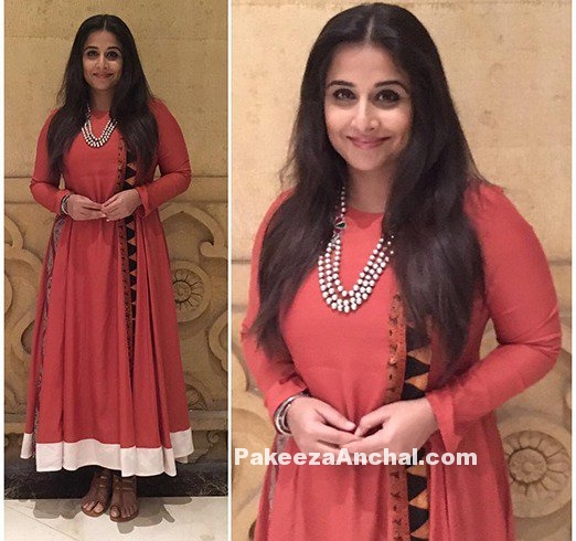 Vidya Balan Orange Salwar Suit by Natasha J