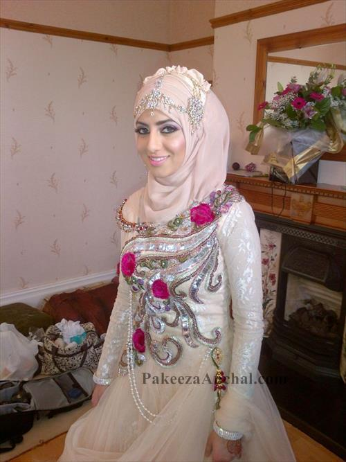 Wedding Hijab Dress Collection for Brides Heavy Work Hijab Dresses for Women-PakeezaAnchal.com