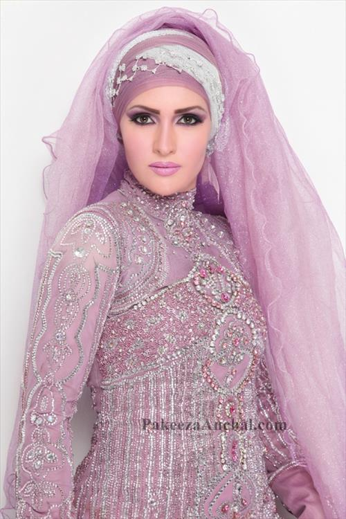 Wedding Hijab Dress Collection for Brides, Heavy Work Hijab Dresses for Women PakeezaAnchal.com